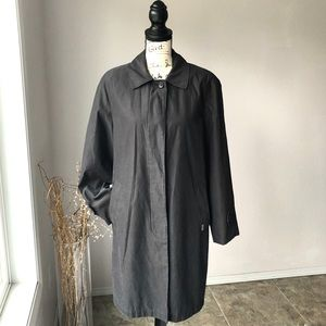 London Fog Vintage Black Trench Coat Medium Black